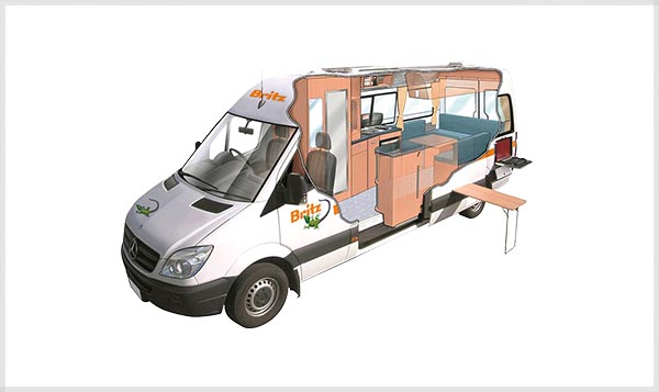 Britz Venturer Plus 3 Berth Campervan