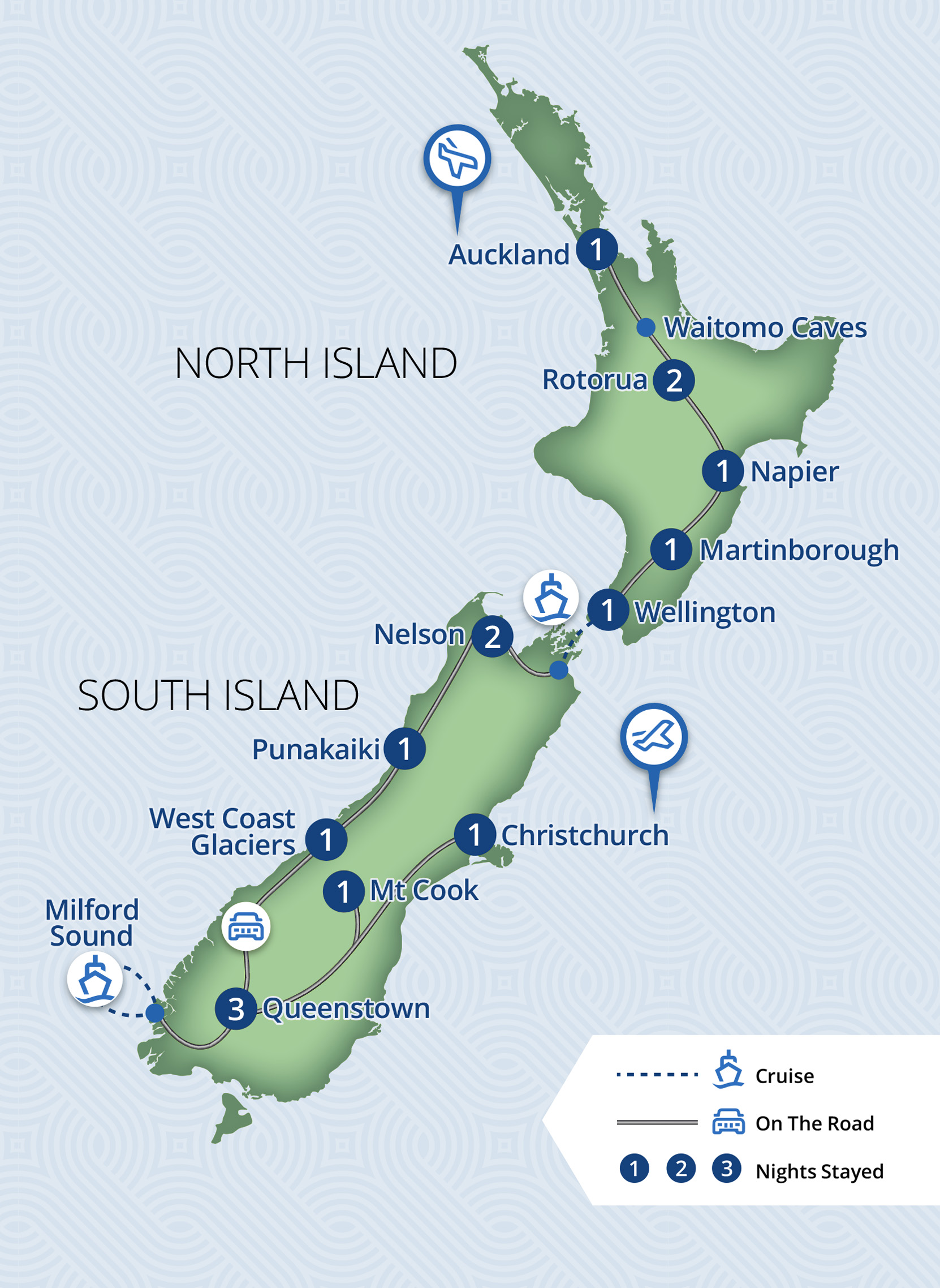 16 Day Visions of New Zealand