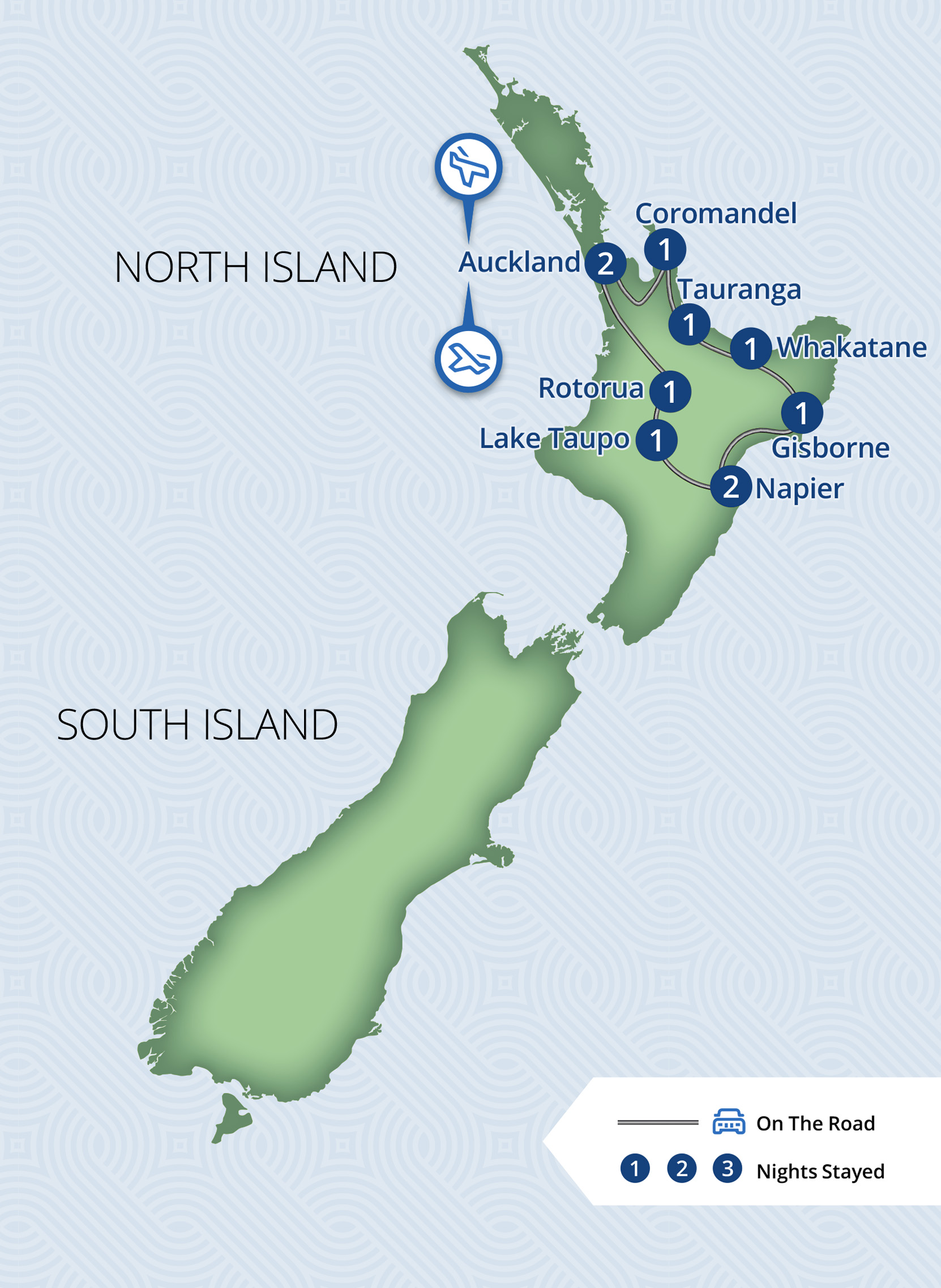 11 Day Great New Zealand Touring Route