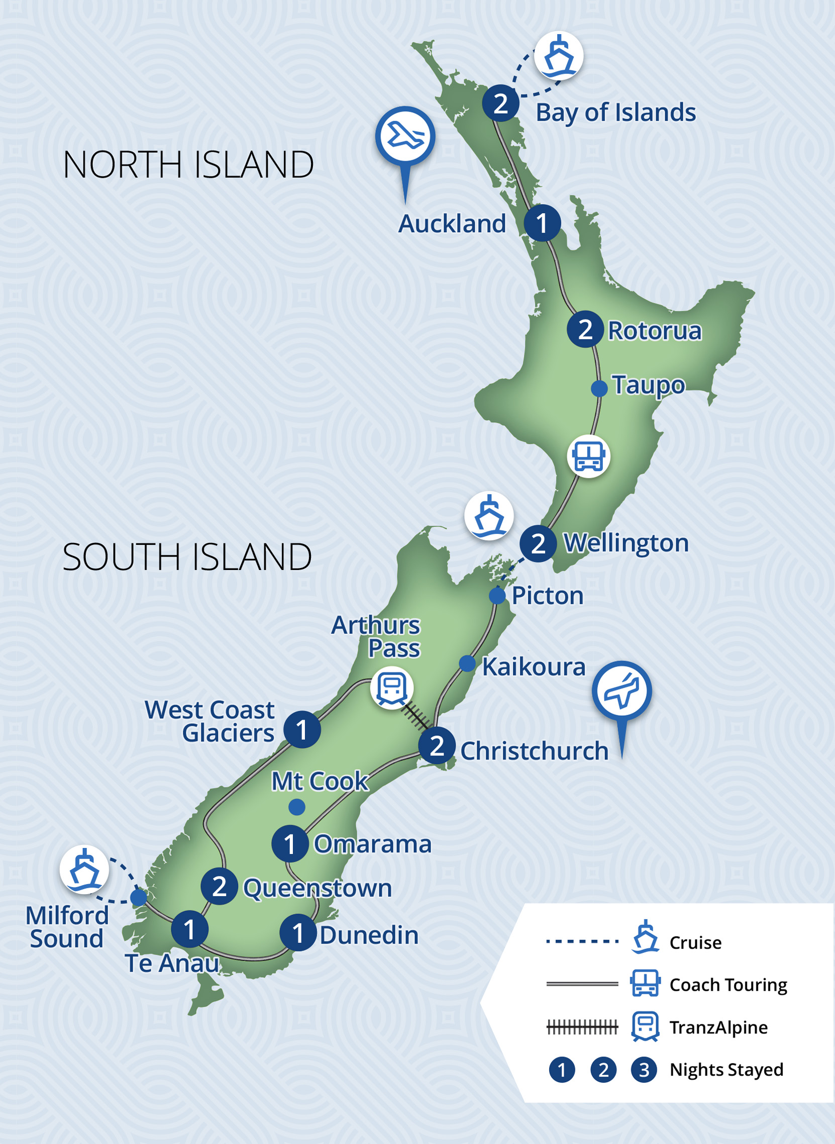 16 Day Highlights of New Zealand Tour