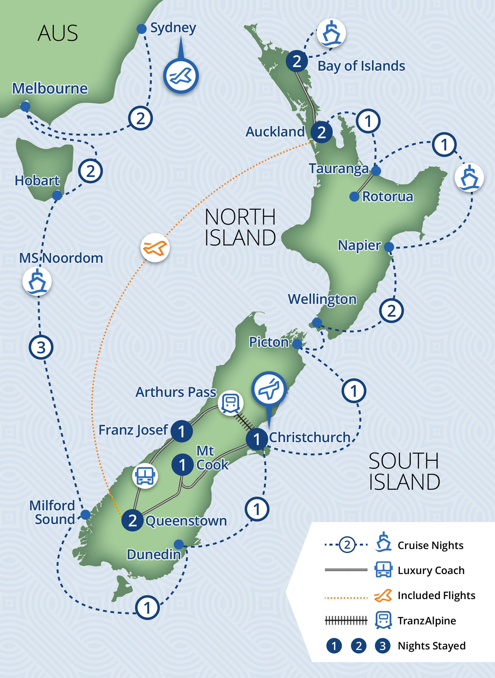 24 Day New Zealand Voyager