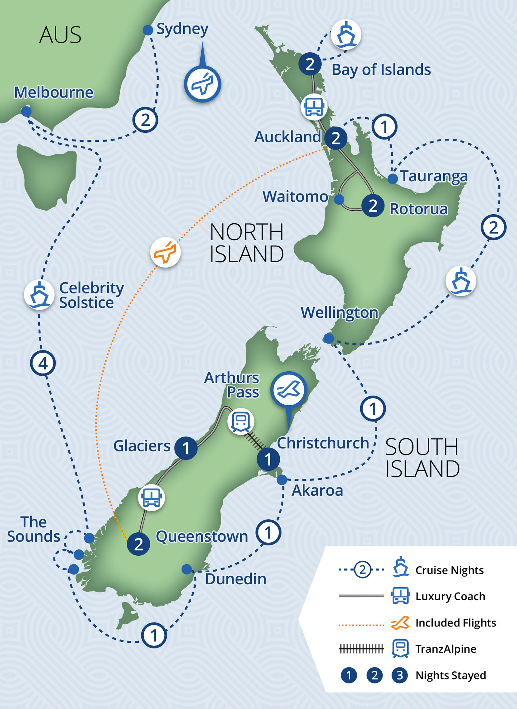 23 Day Best of New Zealand by Cruise & Luxury Coach